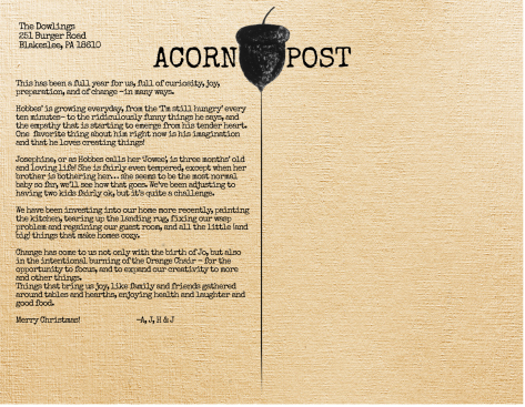 Acorn Post Back (Autumn 2018)